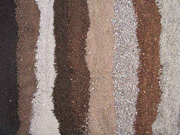 diversi tipi di terreni con diversi valori i CSC